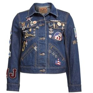 Marc Jacobs Embroidered Patch Denim Jacket